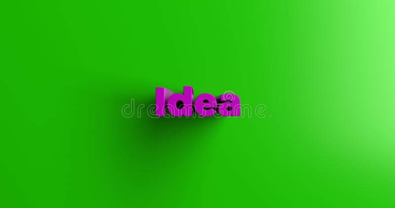 Idea - 3D rendered colorful headline illustration vector illustration
