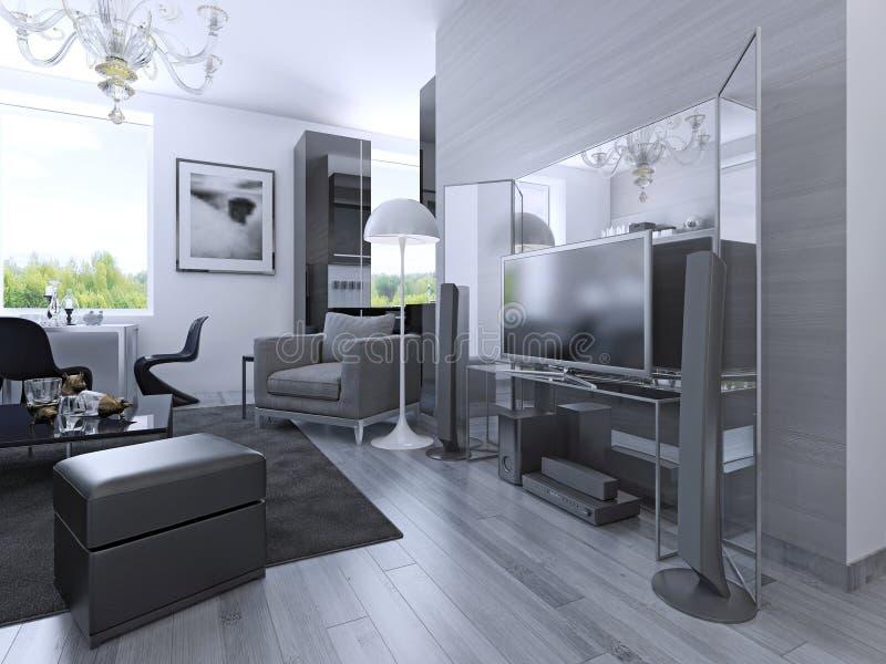 Idea de apartamentos-estudios libre illustration