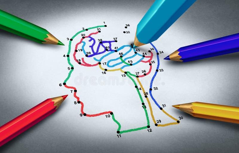 Idea de la conciencia del autismo stock de ilustración