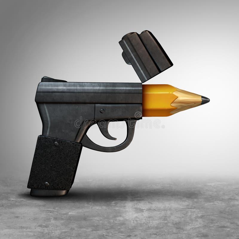 Idea de la educación del arma ilustración del vector