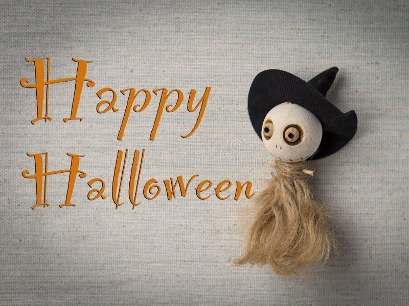 Idea de la tarjeta del feliz Halloween fotografía de archivo