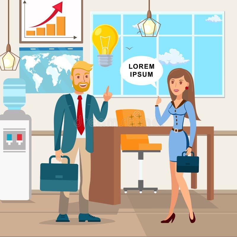 Idea de lanzamiento, ejemplo del asunto del negocio stock de ilustración