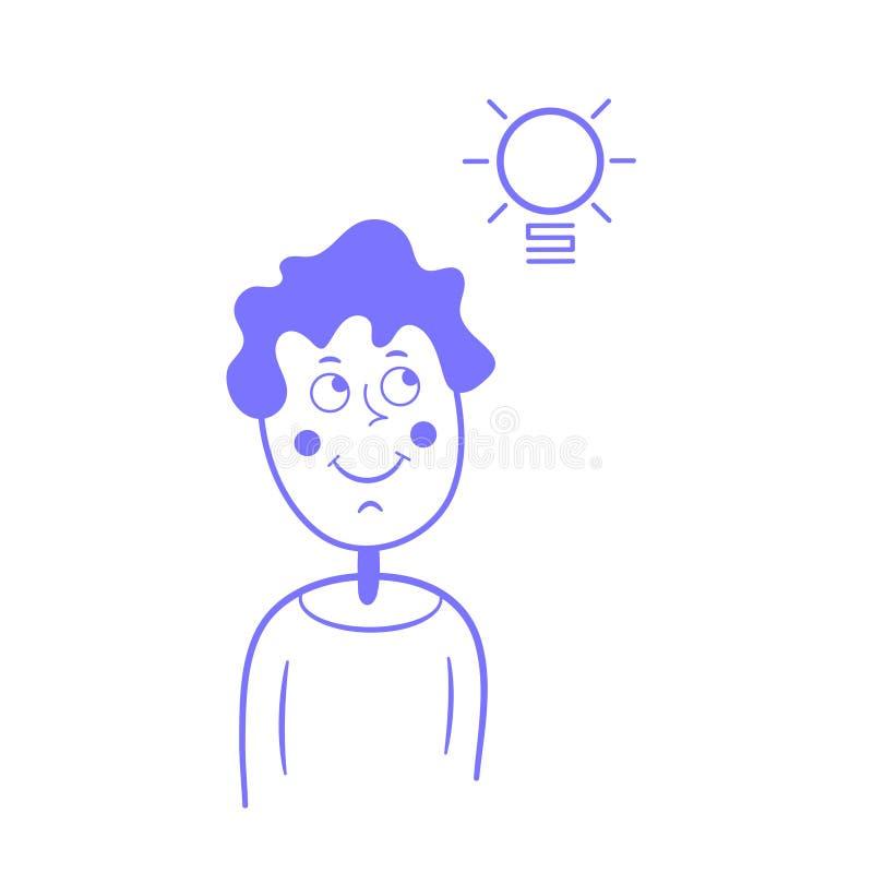 Idea de pensamiento del individuo ilustración del vector