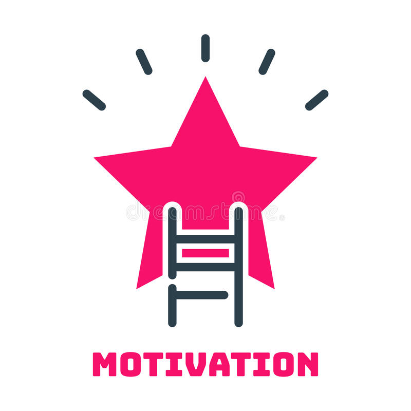 Idea del diseño del desarrollo de la estrategia empresarial del icono de la estrella de la escalera de la carrera del concepto de stock de ilustración