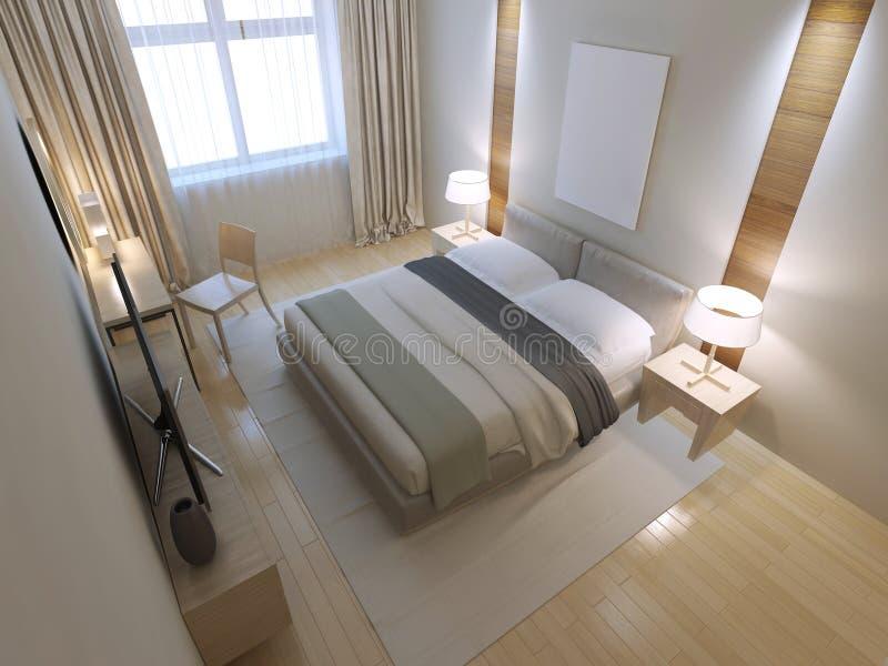 Idea del dormitorio minimalista ilustración del vector