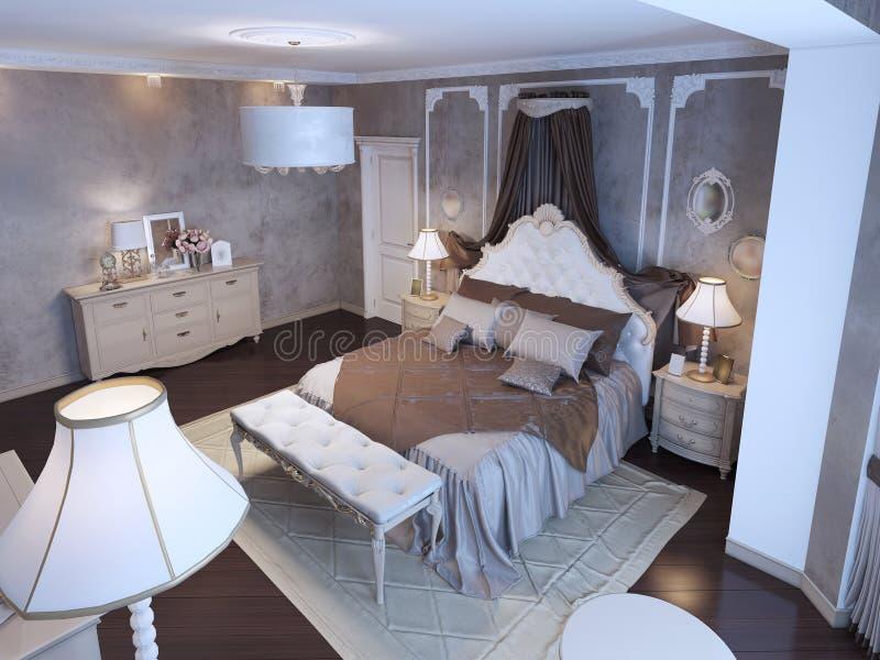 Idea del dormitorio principal stock de ilustración