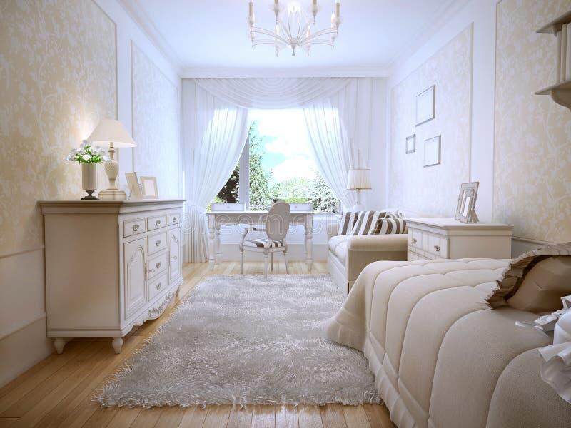 Idea del dormitorio principal clásico stock de ilustración