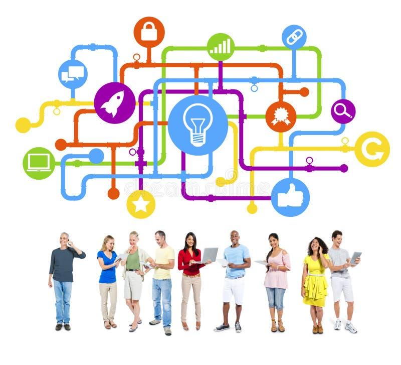 Idea del grupo de personas en negocio imagen de archivo libre de regalías