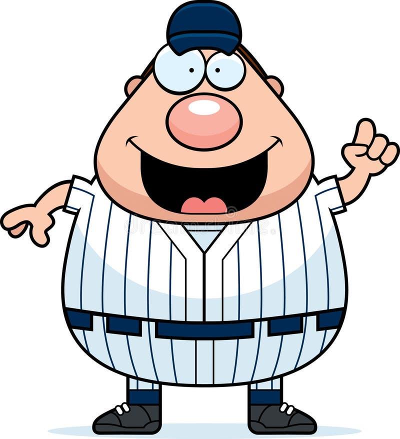 Idea del jugador de béisbol stock de ilustración