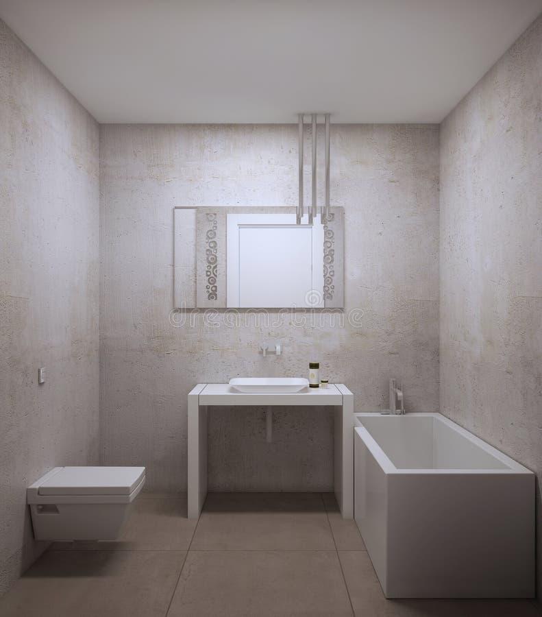 Idea del pequeño cuarto de baño libre illustration