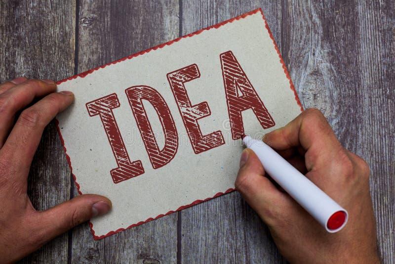 Idea del texto de la escritura de la palabra Concepto del negocio para el pensamiento mental de la impresión y sugerencia a una c fotos de archivo libres de regalías