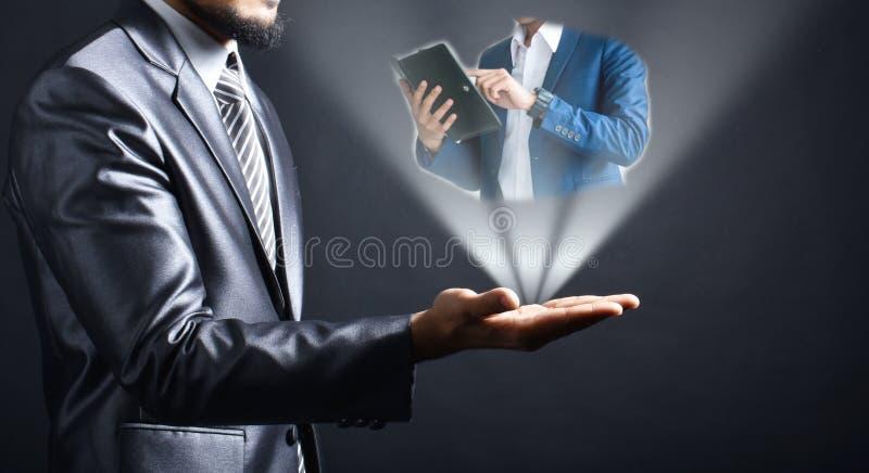 Idea dell'uomo d'affari a disposizione fotografie stock