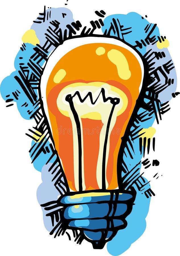 Idea della lampada fotografie stock