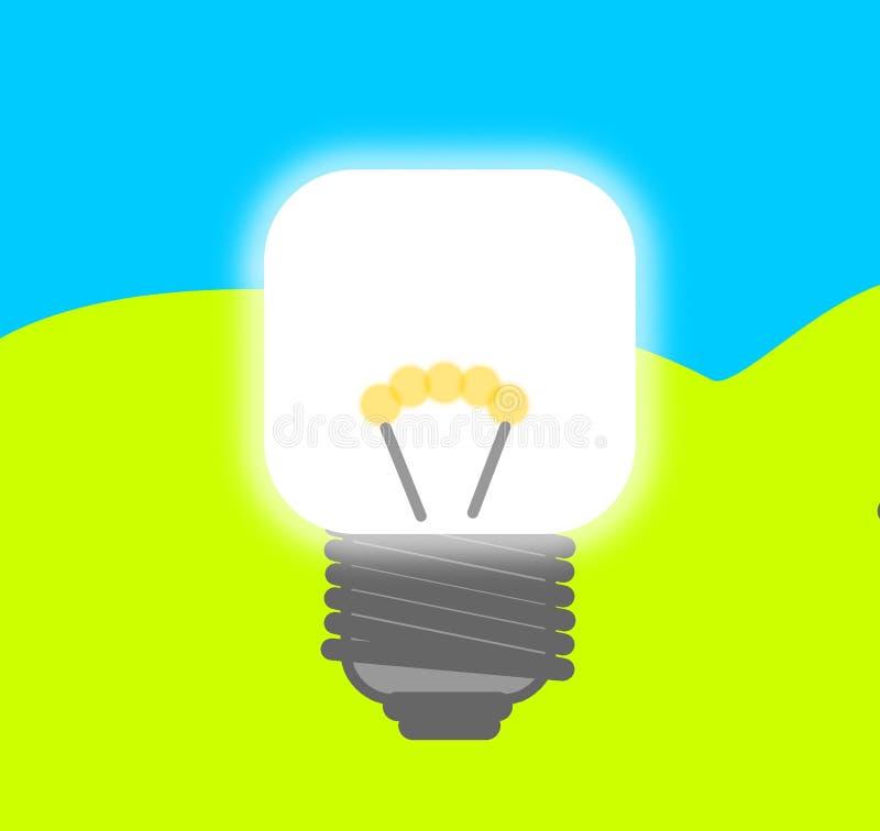 Idea della LAMPADINA illustrazione vettoriale