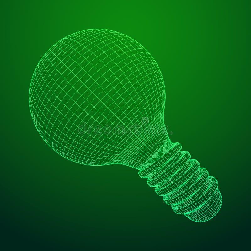Idea della lampadina Vettore illustrazione di stock
