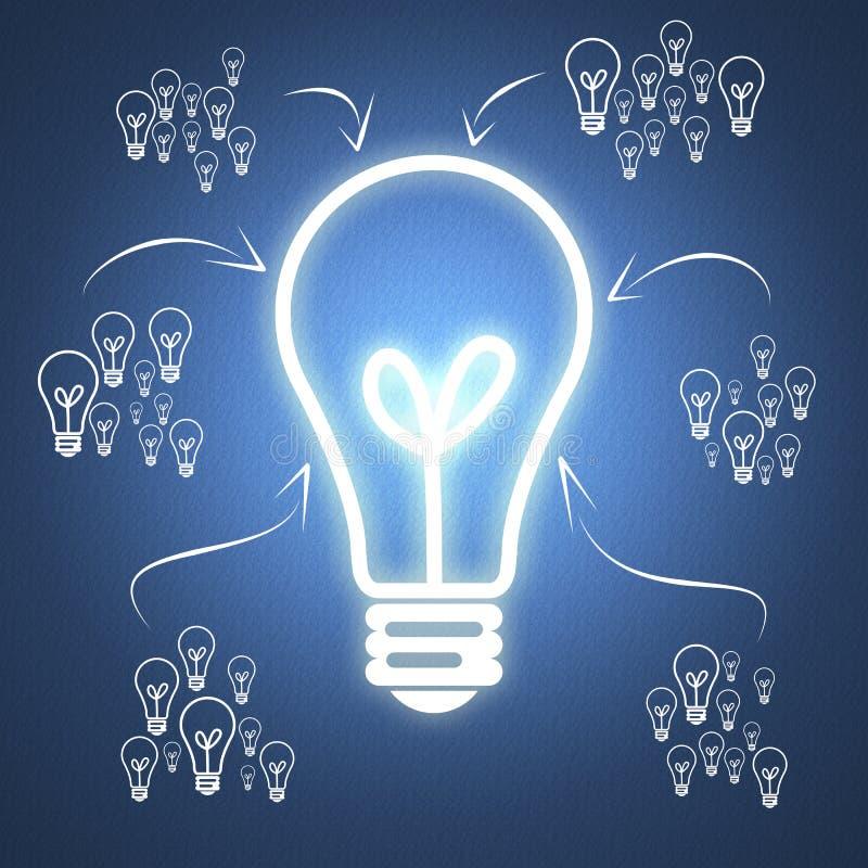 Idea di affari con lavoro di squadra illustrazione vettoriale