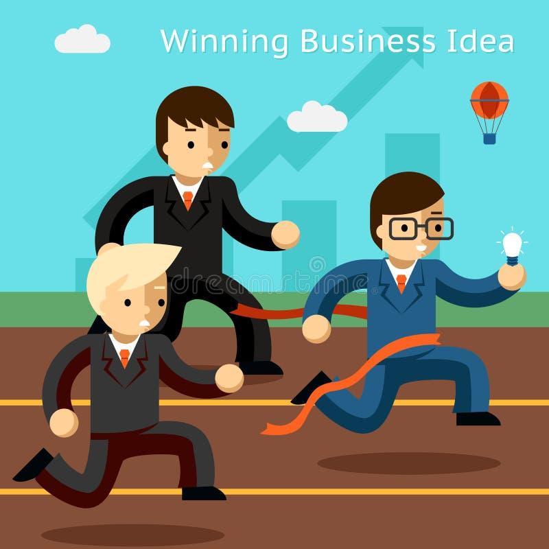 Idea di conquista di affari Successo nell'innovazione royalty illustrazione gratis