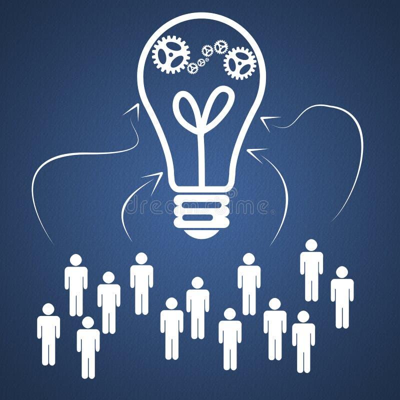Idea di lavoro di squadra di affari illustrazione vettoriale
