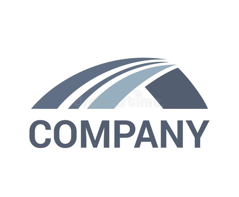 Idea di logo del ponte della strada illustrazione di stock