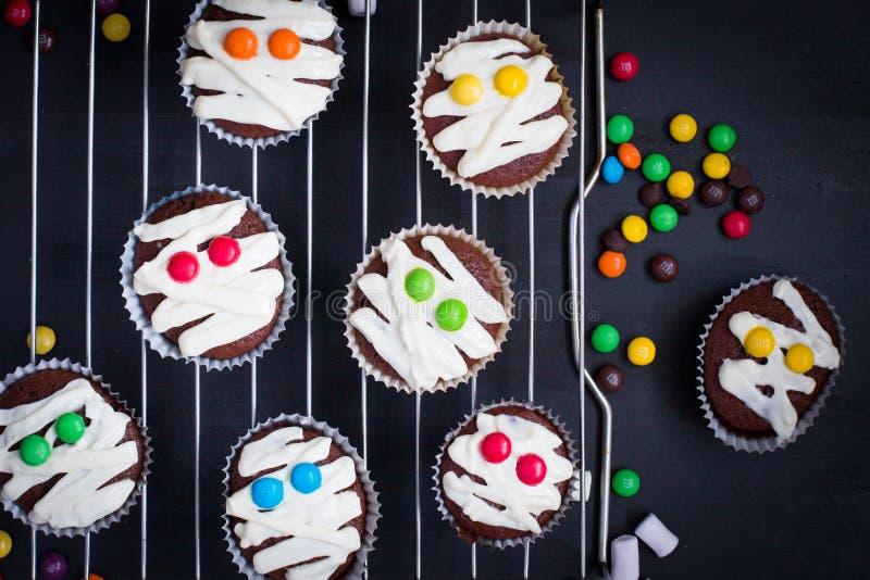 Idea divertente per il dessert di Halloween fotografia stock libera da diritti