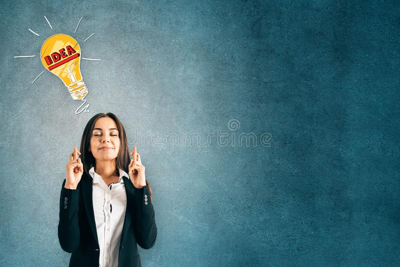 Idea e concetto di speranza immagine stock