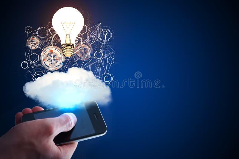 Idea e concetto di tecnologia immagini stock