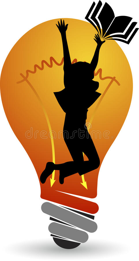 Idea education logo royalty free illustration