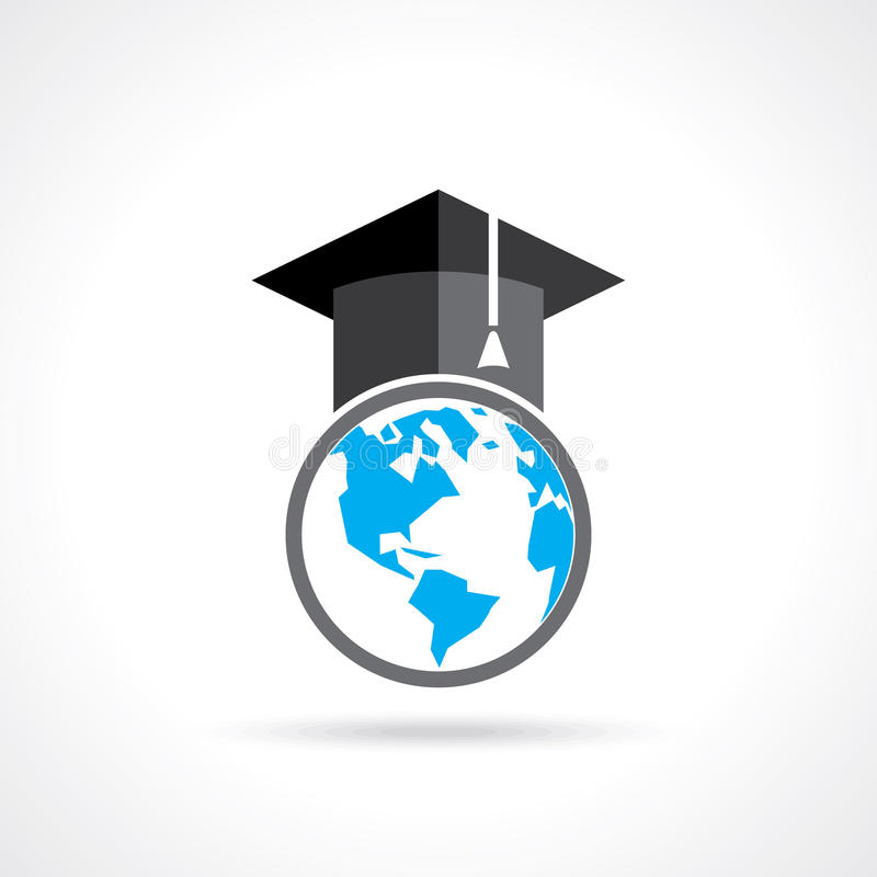 Idea Of Education Symbol In Global Concept Stock Vector