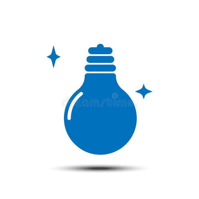 Idea en ljus solid ikon på vit bakgrund vektor illustrationer