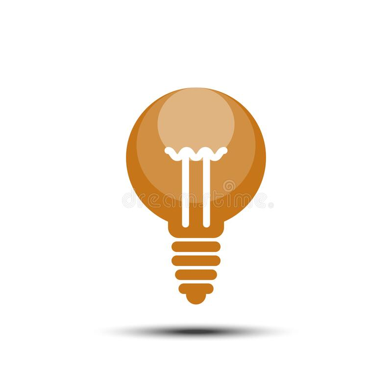 Idea en ljus solid ikon på vit bakgrund stock illustrationer