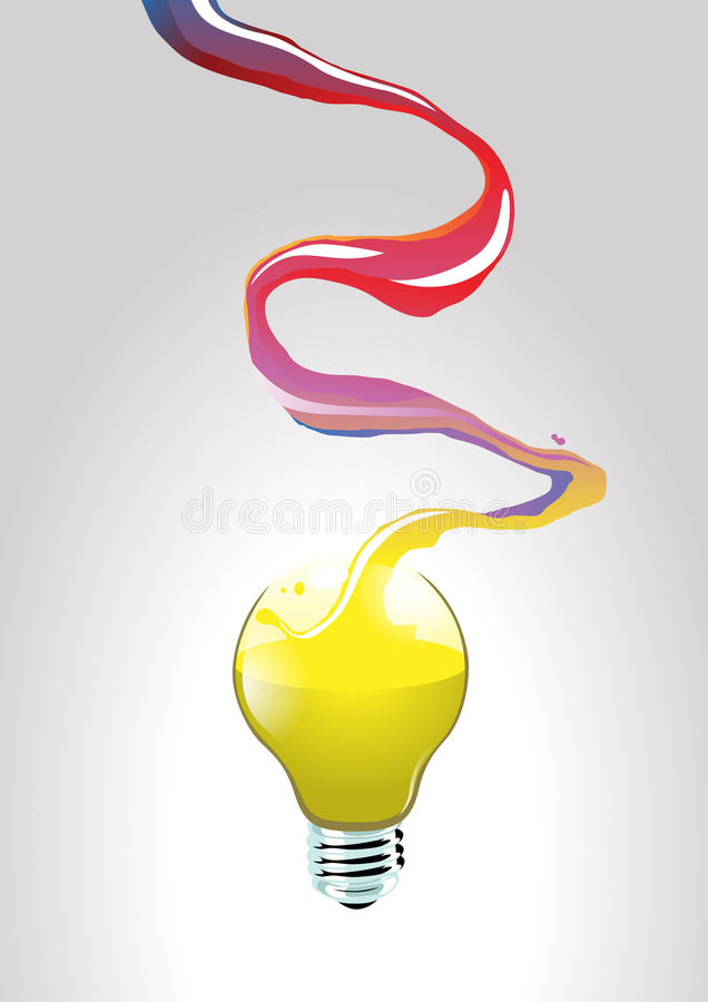 Idea flow. Image of flowing creativity that creating an idea stock illustration
