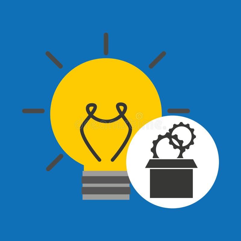 Idea gear programming icon. Vector illustration eps 10 stock illustration