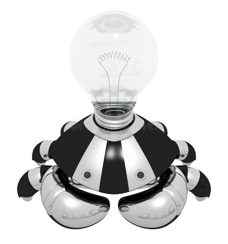 Download Idea Generator Robot With Light Bulb Stock Illustration - Image: 21903256