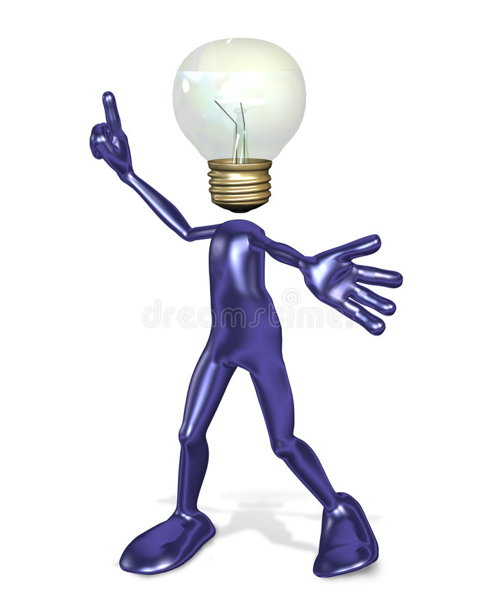 Download Idea Guy stock illustration. Image of thought, idea, bulb - 1521393