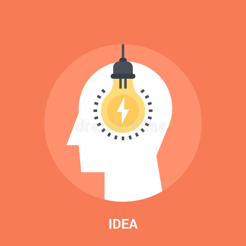 Idea icon concept. Abstract vector illustration of idea icon concept stock illustration