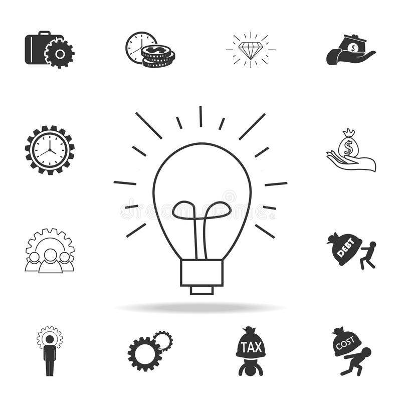 idea icon. Detailed set of finance, banking and profit element icons. Premium quality graphic design. One of the collection icons royalty free illustration