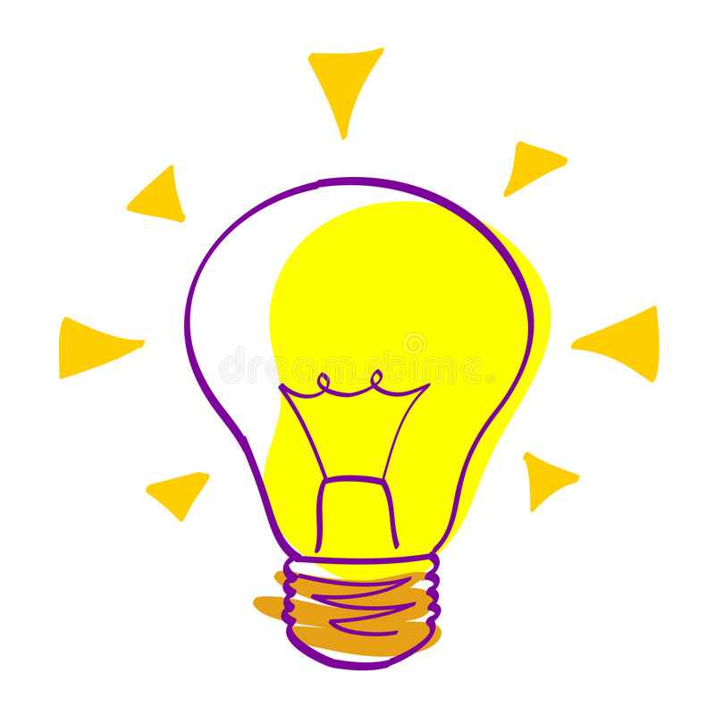 Idea icon - vector bulb royalty free illustration