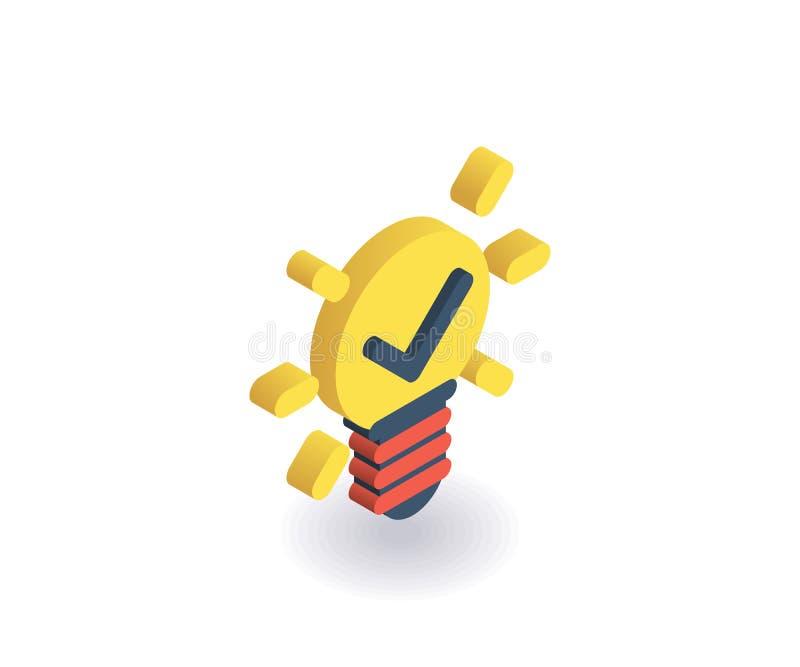 Idea icon. Vector illustration in flat isometric 3D style vector illustration