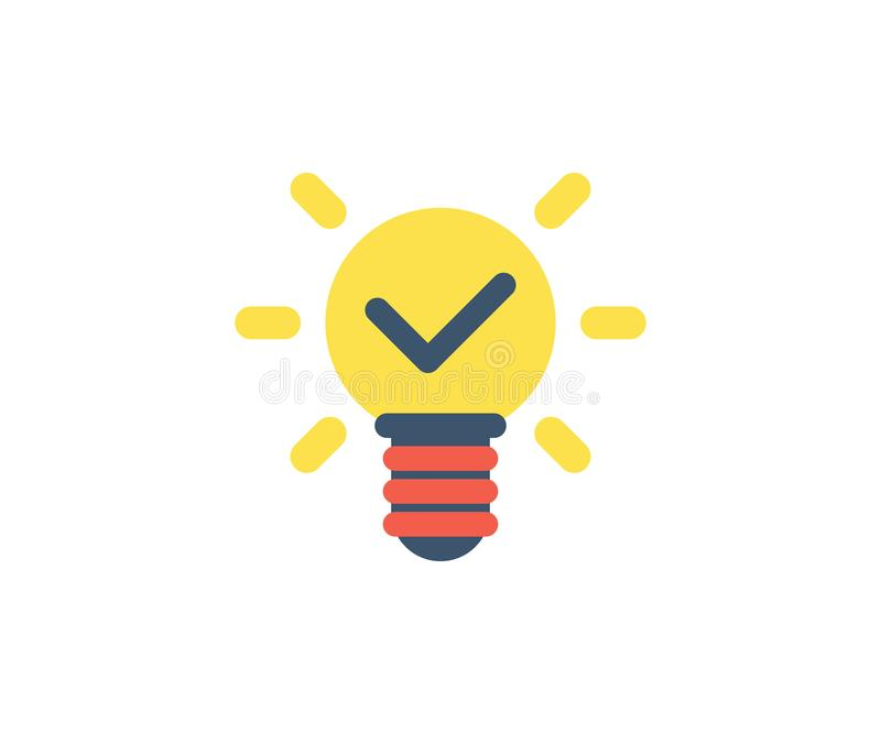 Idea Icon Vector Illustration In Flat Minimalist Style