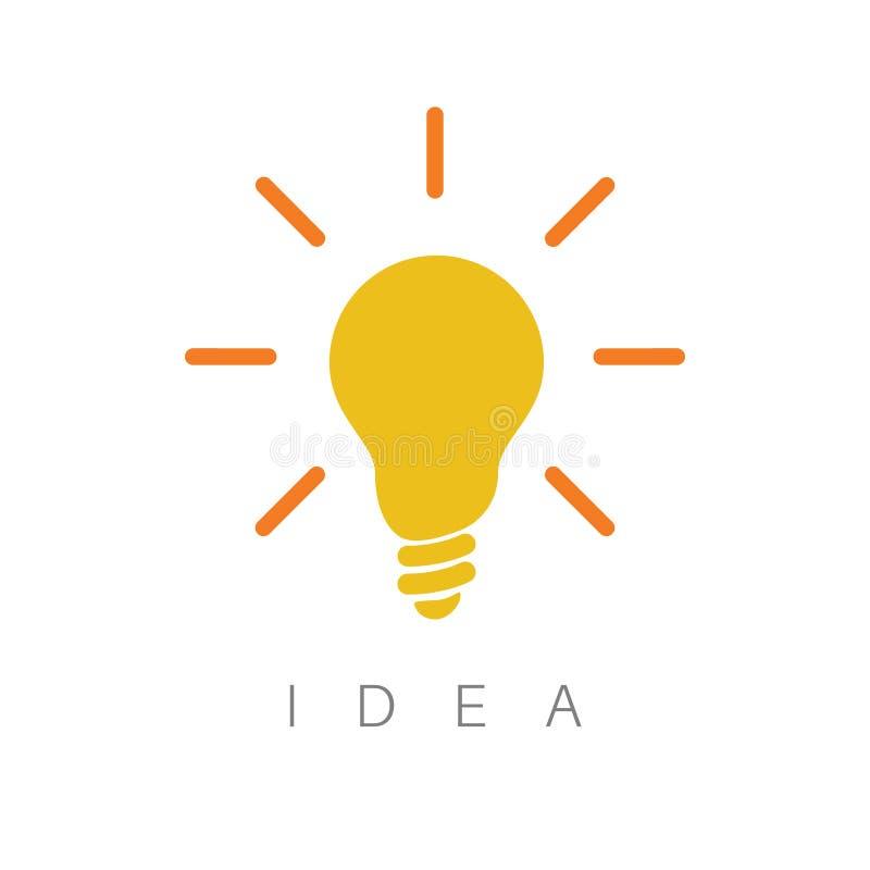 Idea - ilustration minimalista del concepto ilustración del vector
