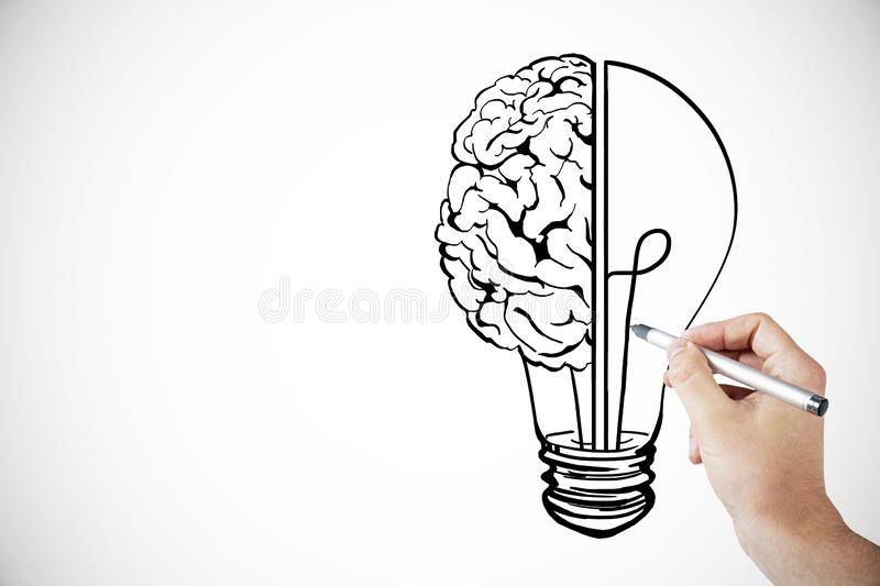 Idea, innovation and brainstorm background royalty free illustration