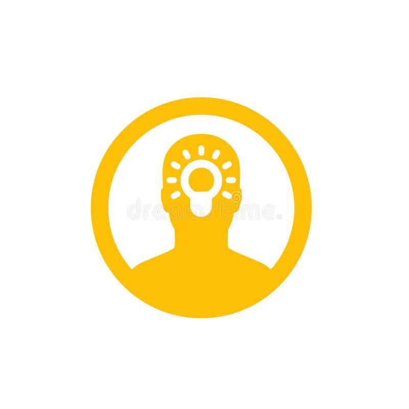 Idea, insight icon in circle royalty free illustration