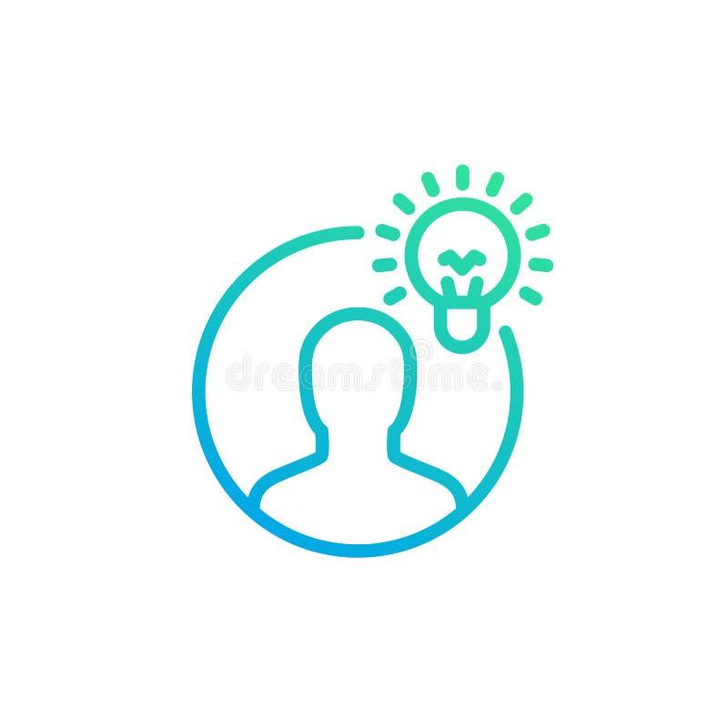 Idea, insight linear icon stock illustration