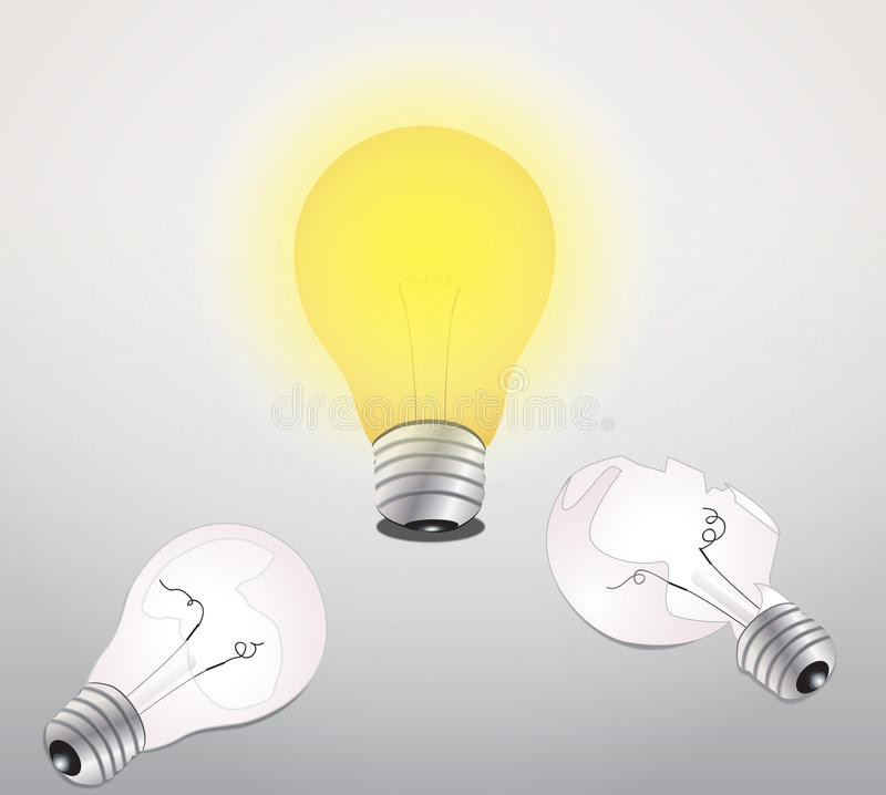 Download Idea lamp stock vector. Image of gray, science, power - 32386751