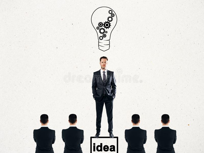 Idea and leadership concept royalty free stock photo