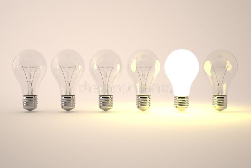 Idea light bulb royalty free illustration