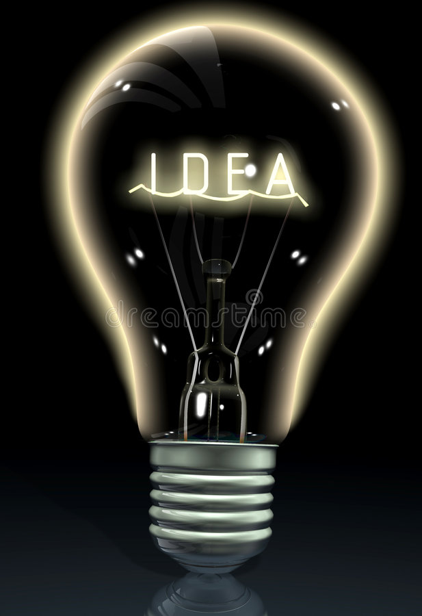 Download Idea on a light bulb stock illustration. Image of object - 2544773
