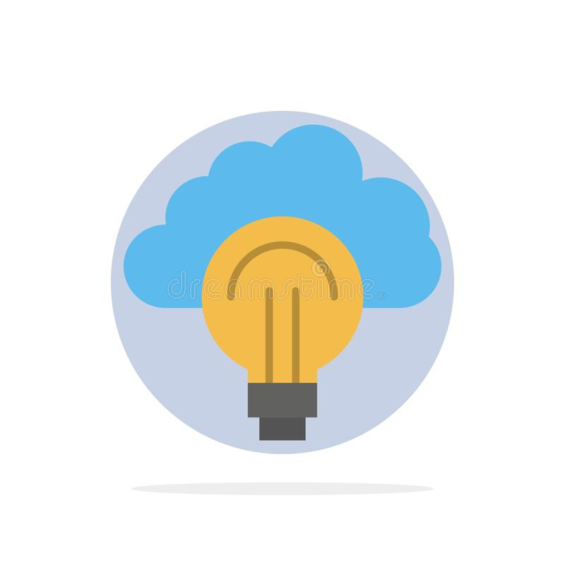 Idea, Light, Bulb, Focus, Success Abstract Circle Background Flat color Icon stock illustration