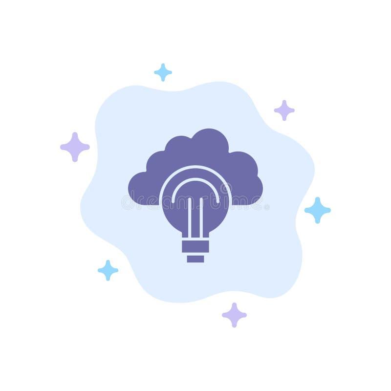 Idea, Light, Bulb, Focus, Success Blue Icon on Abstract Cloud Background stock illustration