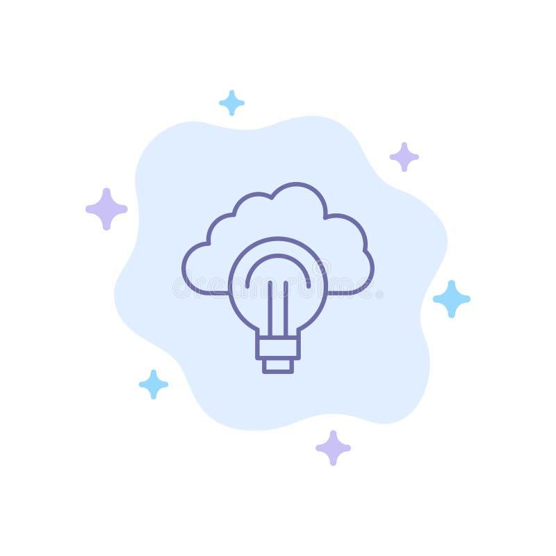 Idea, Light, Bulb, Focus, Success Blue Icon on Abstract Cloud Background vector illustration